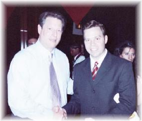 Donald Kaufman with Al Gore
