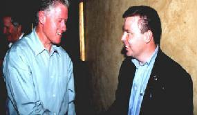 Donald Kaufman with Bill Clinton