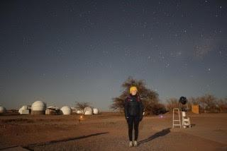 Daniela Chacon star gazing