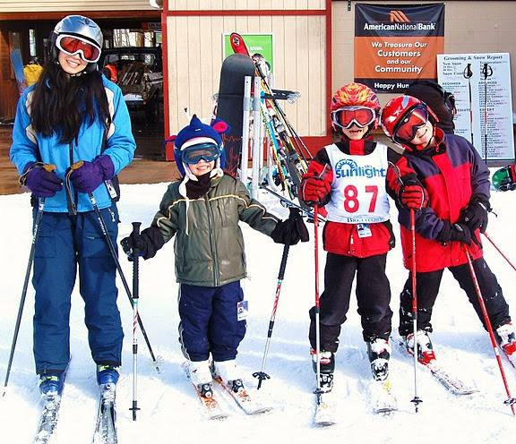 Diana Kaufman Skiing with Children