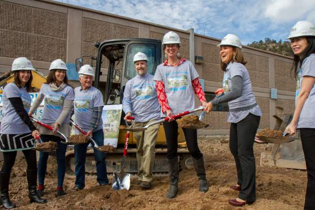 Diana Kaufman helps break ground on new school