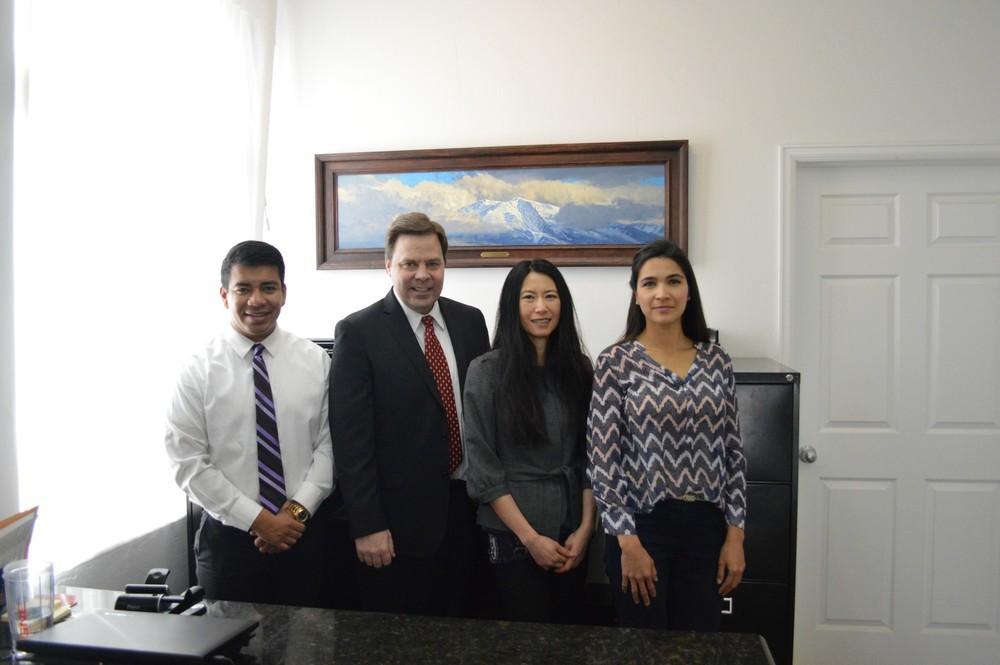 Paralegal Tony Mendez with legal team