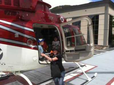 Legal Assistant Veronica Pomareda by Helicopter
