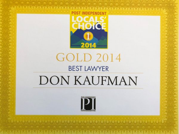Don Kaufman wins 2014 Locals Choice Award