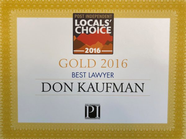 Don Kaufman Wins 2016 Locals Choice Award